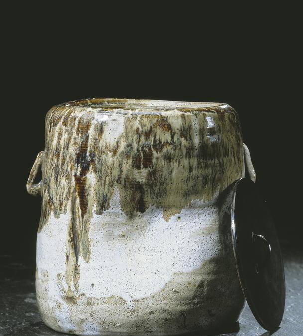Pot couvert mizusashi