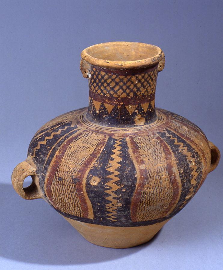 Vase funéraire à large panse
