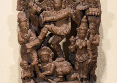 Bois de char processionnel représentant Siva dansant
