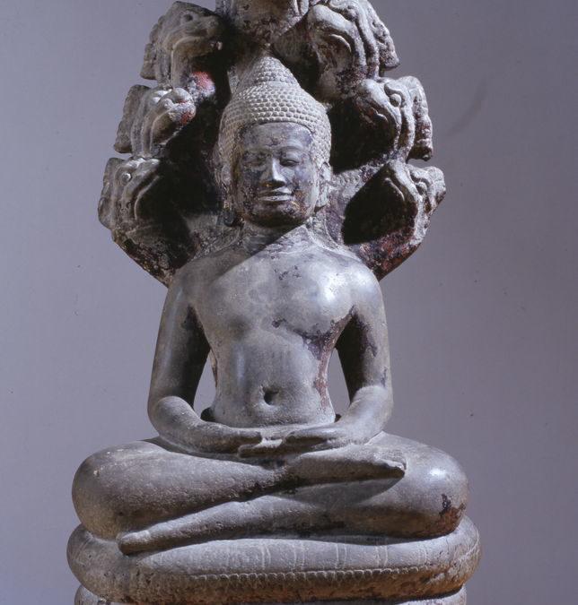 Buddha paré protégé par le naga