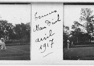 Nam Dinh, court de tennis, 8 avril 1917