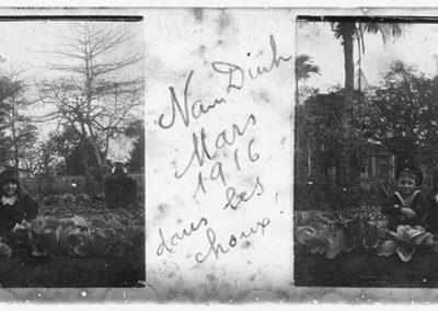 Nam Dinh, dans les choux, mars 1916