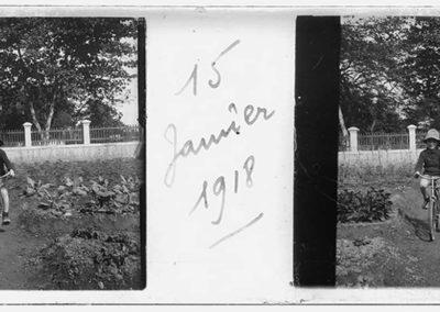 Garçon au vélo, 15 janvier 1918