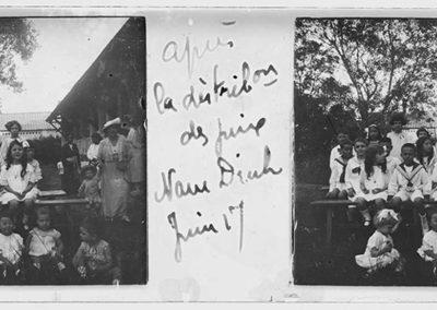 Après la distributiondes prix Nam Dinh, juin 1917