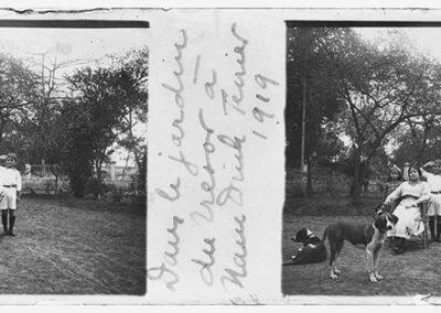 Dans le jardin du trésor à Nam Dinh, février 1919