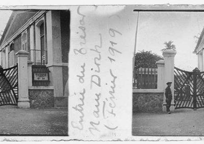 Entrée du trésor Nam Dinh, février 1919