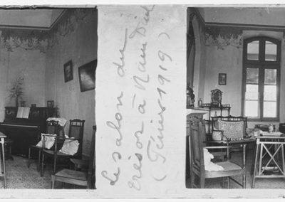 Le salon du trésor à Nam Dinh, février 1919