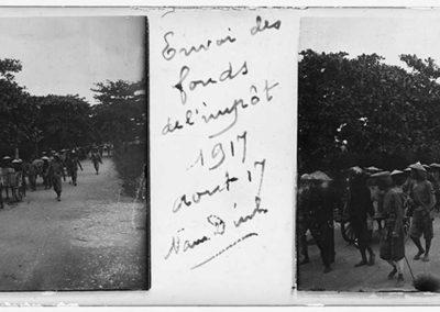 Envoi des fonds de l'impôt 1917, Nam Dinh, août 1917