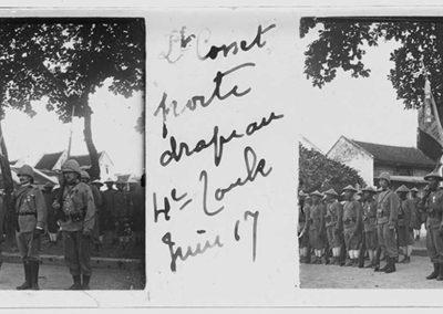 Lieutenant Cosset, porte drapeau, juin 1917