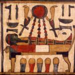 Détail peinture sarcophage © D. Molinier