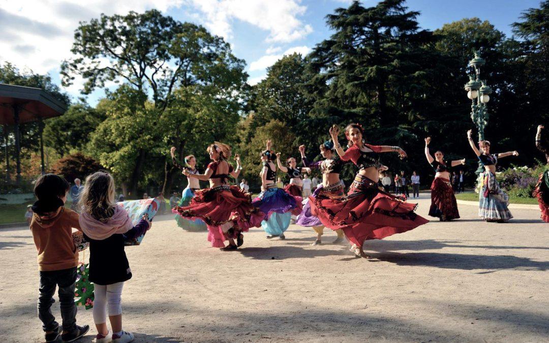 Flash Mob ATS dans le jardin du Musée Georges-Labit