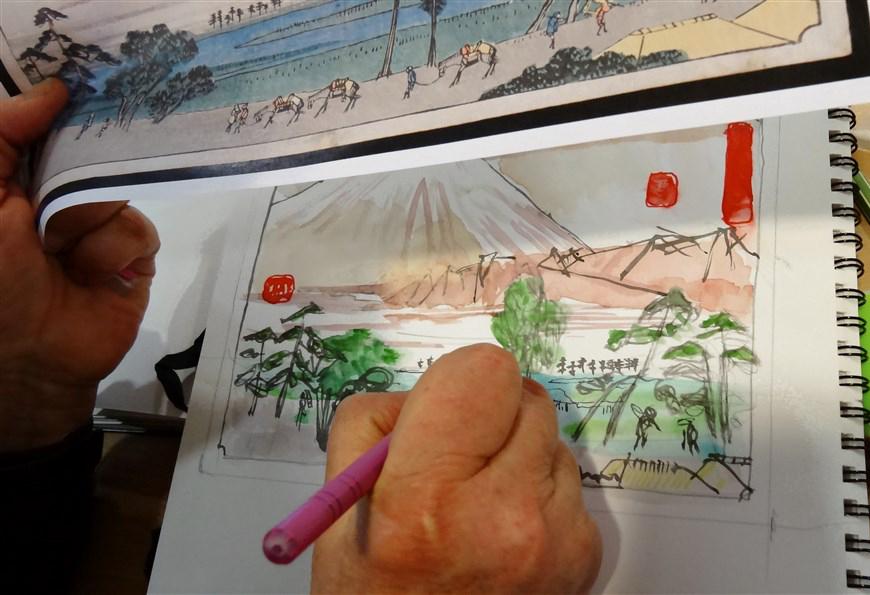 Dessiner au musée : les estampes japonaises