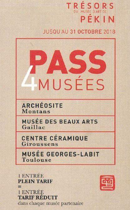 Pass 4 musées jusqu'au 31 octobre