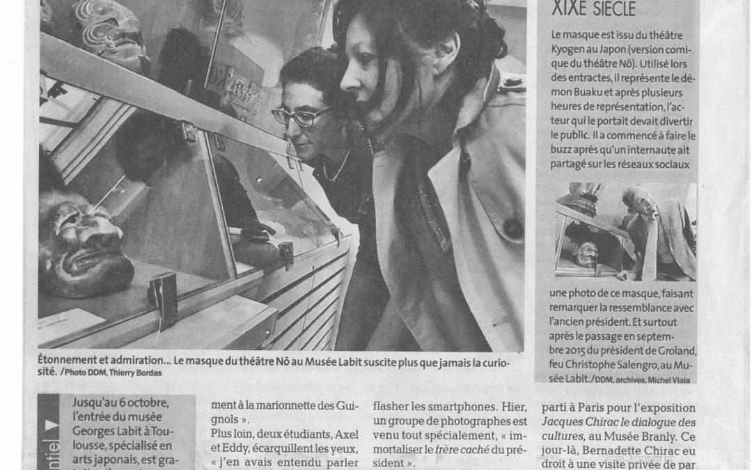 Article de La Dépêche du Midi, 3 octobre 2019