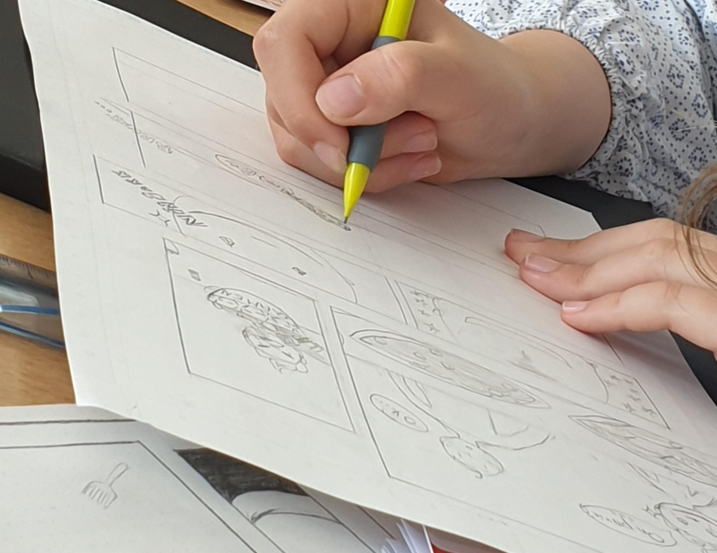Atelier manga : créer une page de manga