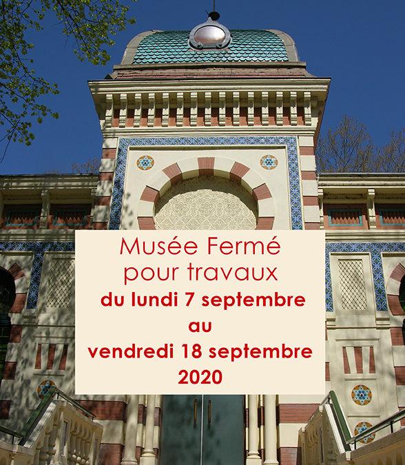 Fermeture du musée pour travaux