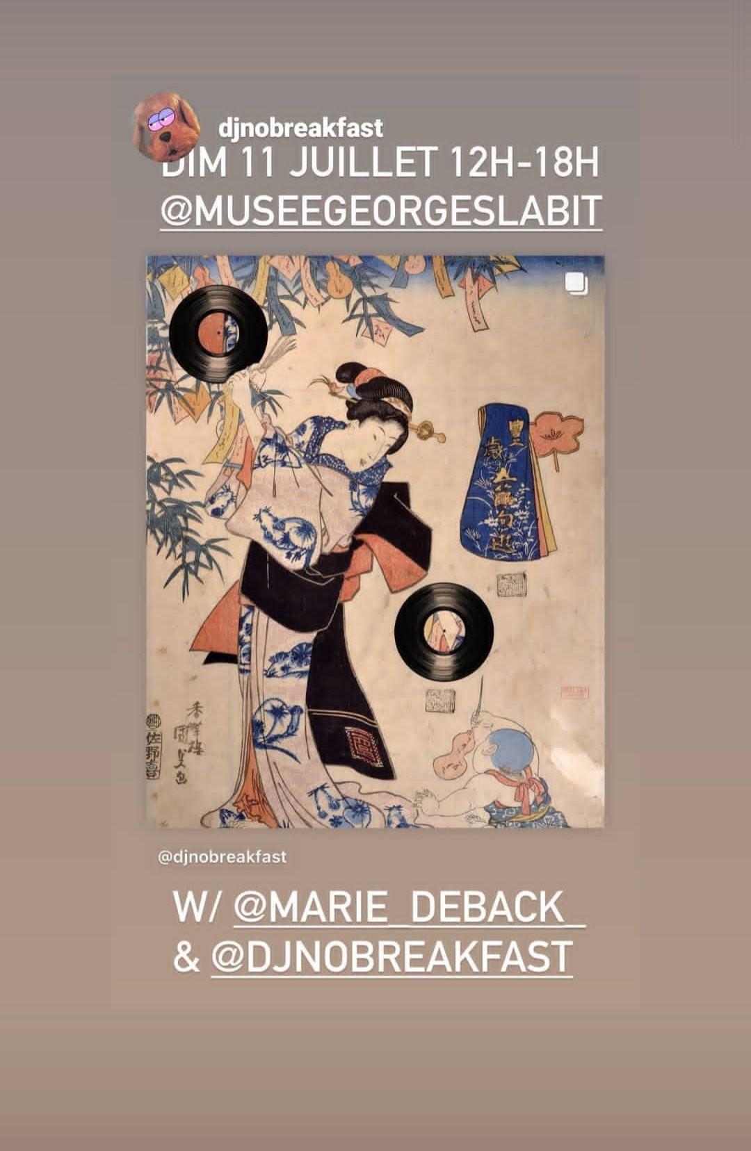 TANABATA w/ Marie Deback & DJ No Breakfast @ Musée G. Labit